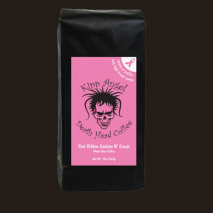 Death Head Pink Ribbon Cookies n Cream Coffee