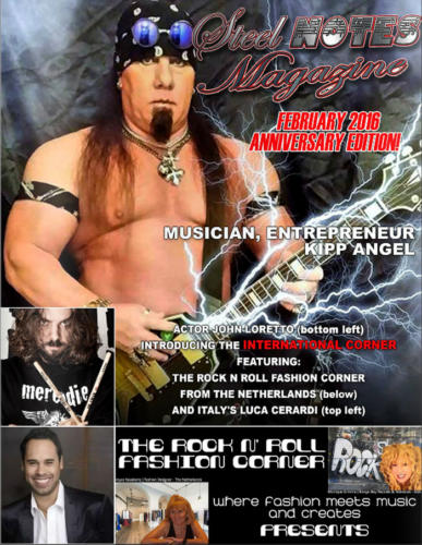 Kipp Angel on the cover of Steel Notes Magazine